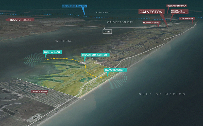ASLA 2017 Professional Award of Excellence in Analysis and Planning. Storm + Sand + Sea + Strand: Barrier Island Resiliency Planning for Galveston Island State Park, Studio Outside.