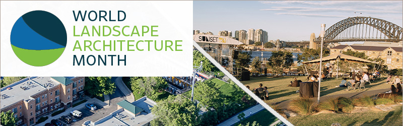 World Landscape Architecture Month Banner